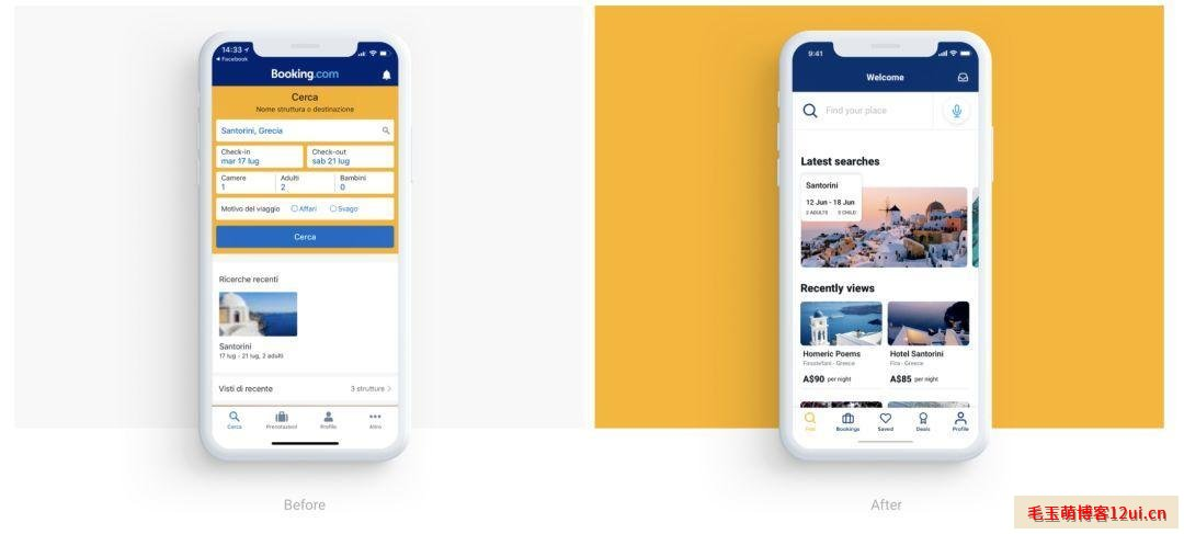 Booking APP 主页界面设计